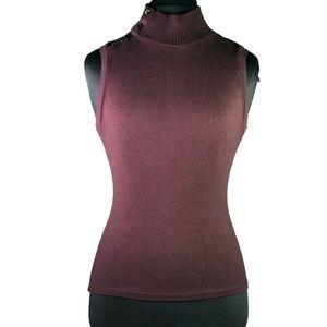 Zara Knit Mockneck Sleeveless Top